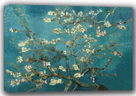 Van Gogh, Vincent: The Blossoming Almond Tree. Fine Art Canvas. Sizes: A4/A3/A2/A1 (001349)